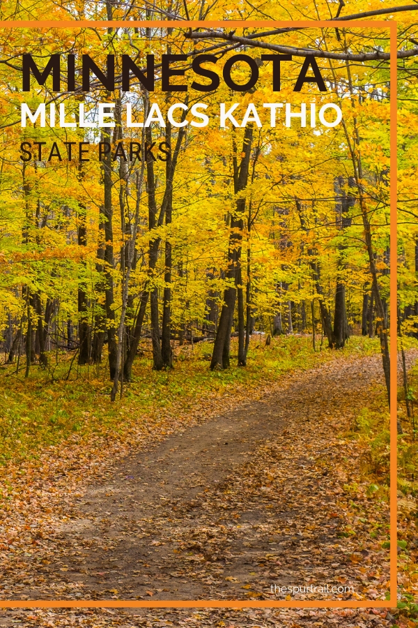 Mille Lacs Kathio State Park during fall season in Minnesota