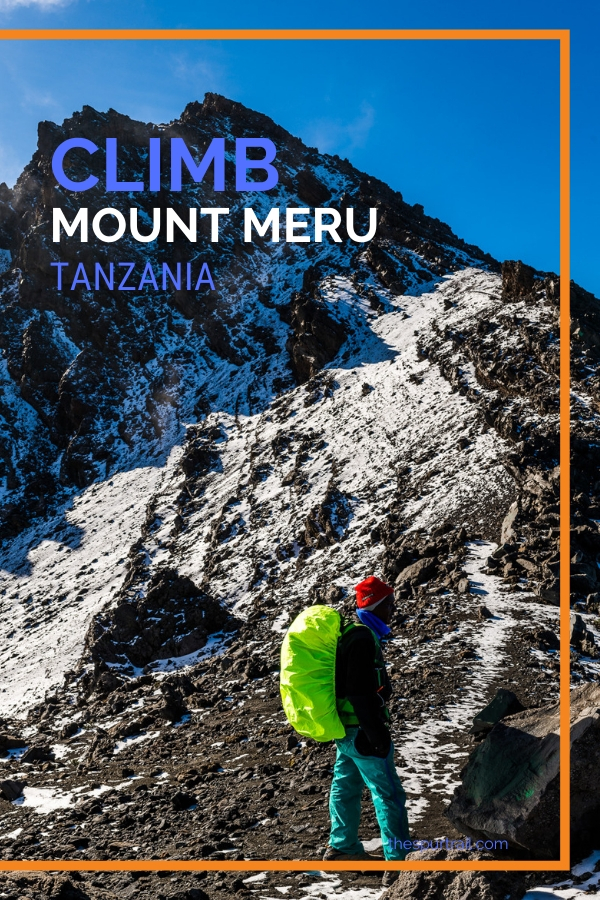 Tanzania climbing Mount Meru for sunrise and views from the mountain top