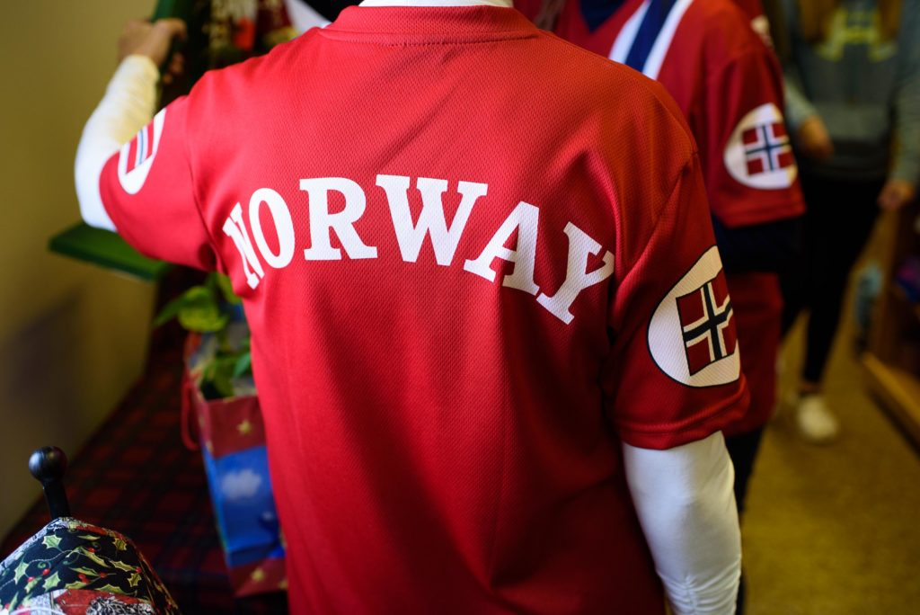 Norway is represented everywhere from clothing to flags to good conversation.
