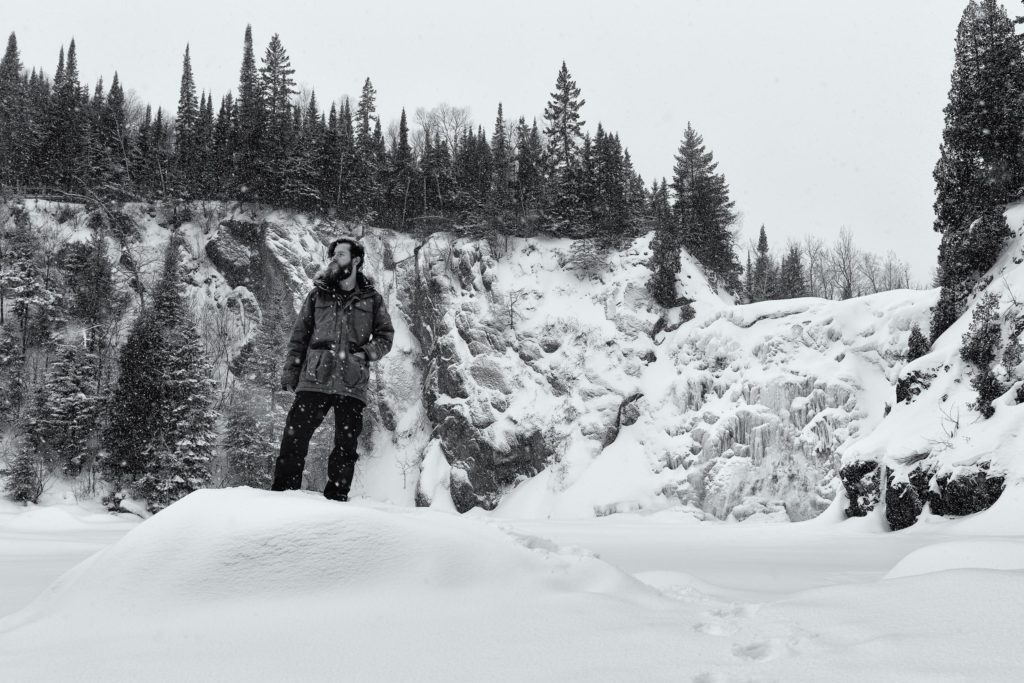 My own personal hero shot at the High Falls in Tettegouche State Park during a heavy dusting of snow.  Baptism River