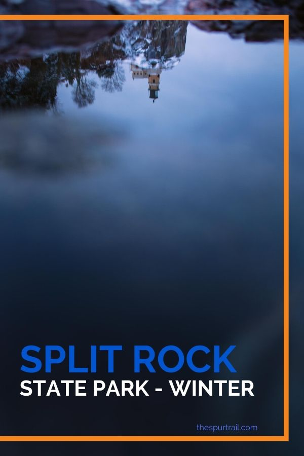 Mirror image of Split Rock Lighthouse in water next to Lake Superior for a sunrise that never materialized.