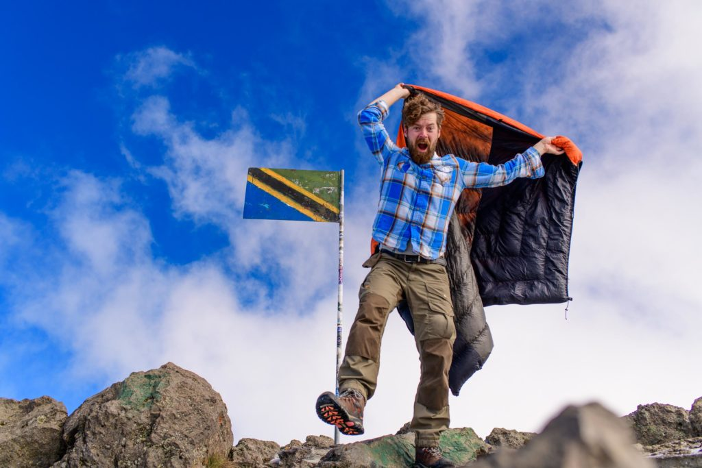 My Fjallraven pants got me to the top of Mount Meru in Tanzania, along with my Enlightened Equipment quilt.